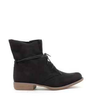 Černé šněrovací boty Claudia Ghizzani